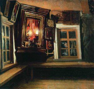 Максимов В.М., Красный угол в избе.1869 год