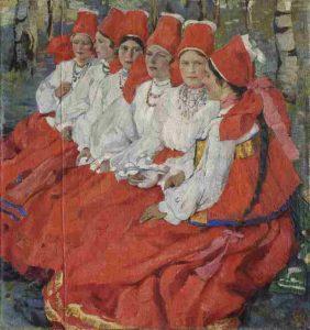 Е.А. Киселева, Невесты. Троицын день