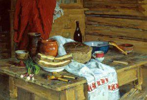 Стожаров В.Ф. Натюрморт с хлебом на столе